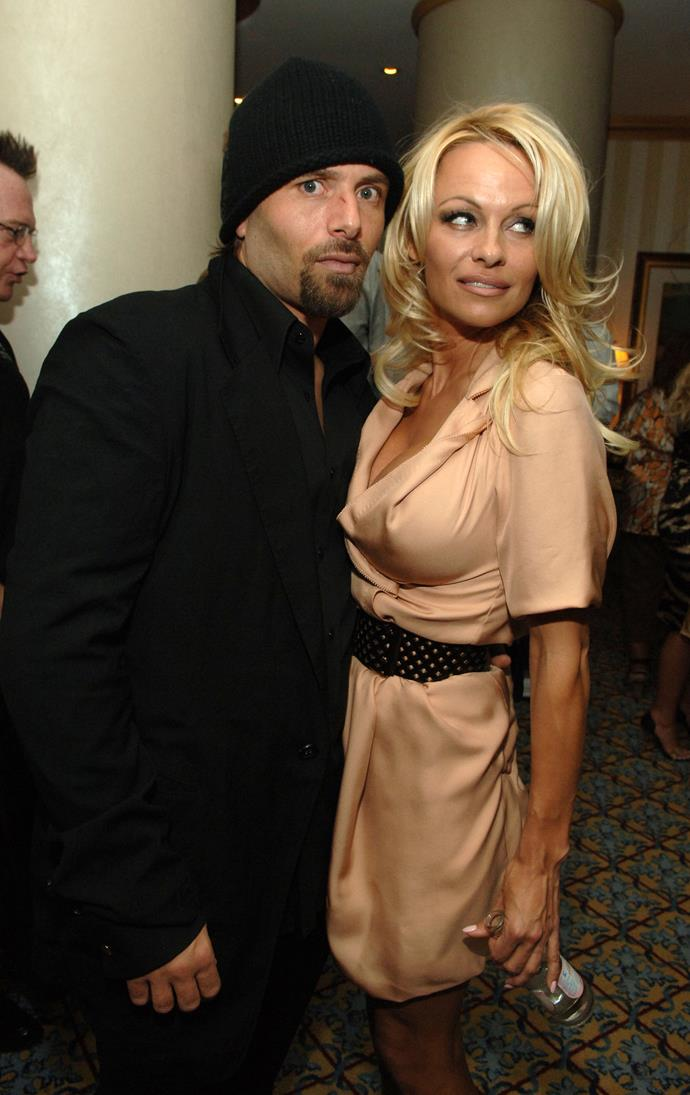 **Pamela Anderson and Rick Saloman** <br><br> The *Baywatch* star married her third husband in October 2007, tying the knot in a speedy service in between shows, as she was serving as a magician's assistant in Sin City at the time. She and Salmon separated only months later, in December 2007. However, in a plot twist, Anderson remarried Saloman in 2014, before divorcing him again in 2015.