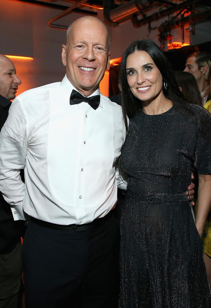 **Bruce Willis and Demi Moore** <br><br> Although they're now long-divorced, Willis and Moore married at Vegas' iconic A Little White Chapel in 1987, after only four months of dating.