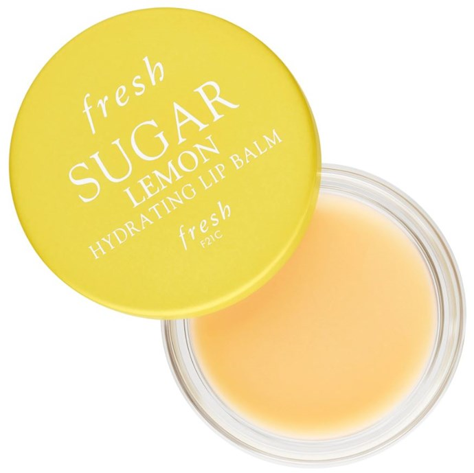 """**For super sweet lips: Sugar Lemon Hydrating Lip Balm, $18 at [sephora.com](https://www.sephora.com/product/sugar-lemon-hydrating-lip-balm-P443827?icid2=products%20grid:p443827:product