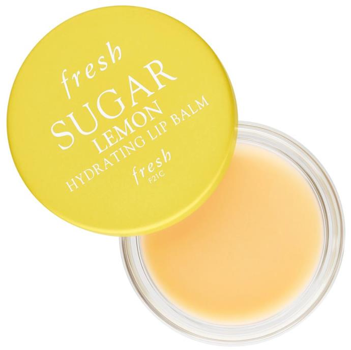 "**THE MOST ADDICTIVE LIP BALM**<br><br>   On top of being an effective moisturising lip treatment, this lip balm is like a seriously addictive dessert. Inspired by lemon meringue, whoever you end up kissing will be *very* thankful.<br><br>  *Sugar Lemon Hydrating Lip Balm, $18 at [Sephora](https://fave.co/2EES8SY|target=""_blank""