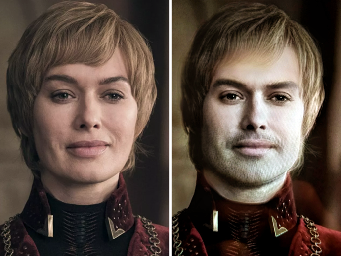 "**Cersei Lannister**<br><br>  Spoiler alert: Cersei's REAL twin has officially arrived!<br><br>  *Image via [Ruin My Week](https://ruinmyweek.com/entertainment/tv/i-put-the-game-of-thrones-characters-in-snapchats-gender-swap-filter-so-you-dont-have-to/|target=""_blank""
