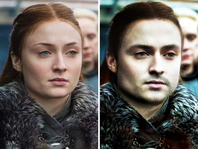 """**Sansa Stark**<br><br>  Sansa as a strapping young Stark lad is making our day.<br><br>  *Image via [Ruin My Week](https://ruinmyweek.com/entertainment/tv/i-put-the-game-of-thrones-characters-in-snapchats-gender-swap-filter-so-you-dont-have-to/ target=""""_blank"""" rel=""""nofollow"""")*"""