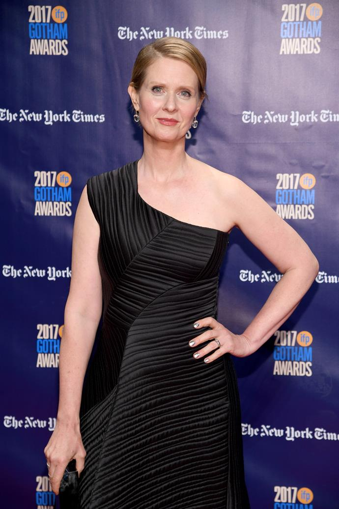 "**Cynthia Nixon**<br><br>  The *Sex and the City* actress and politician shared both her wife and her mother's #youknowme story on [Twitter](https://twitter.com/CynthiaNixon/status/1128815500195192832|target=""_blank""
