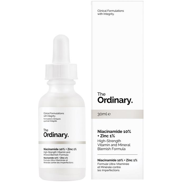 "**Niacinamide 10% + Zinc 1% by The Ordinary, $9.90 from [Priceline](https://www.priceline.com.au/the-ordinary-niacinamide-10-zinc-1-30-ml|target=""_blank""