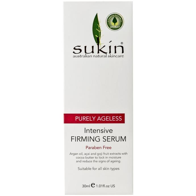 "**Purely Ageless Intensive Firming Serum by Sukin, $24.99 from [Priceline](https://www.priceline.com.au/brand/sukin/sukin-purely-ageless-intensive-firming-serum-30-ml|target=""_blank""