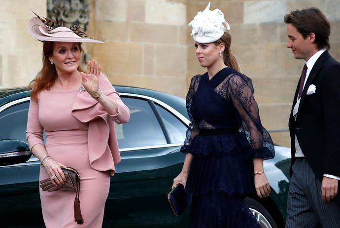 Sarah, Duchess of York, and Princess Beatrice.