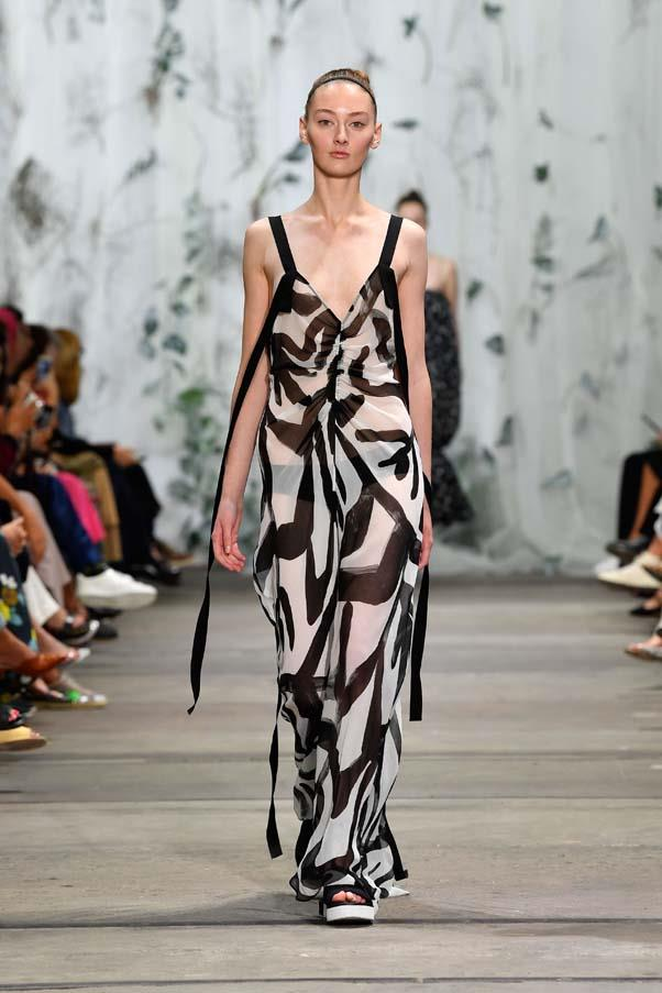 **Graphic prints:** An injection of joy came courtesy of playful prints this season, be it California Dreaming-vibes at Bec + Bridge, an abundance of tie-dye at Resort, or avant garde squiggles at Lee Mathews. <br><br> Lee Mathews Resort '20
