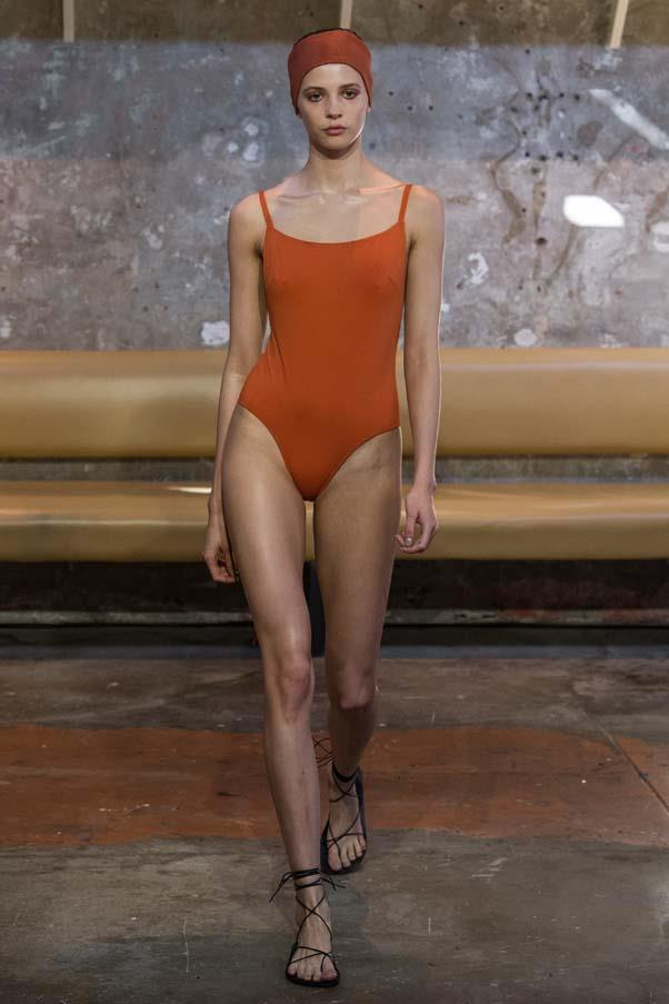 **Shades of rust:** Structured one-pieces in hues of orange and rust were the swimwear of choice this season. The best part? They work as apparel off the beach, worn with denim shorts or tailored pants.<br><br>Bondi Born Resort '20