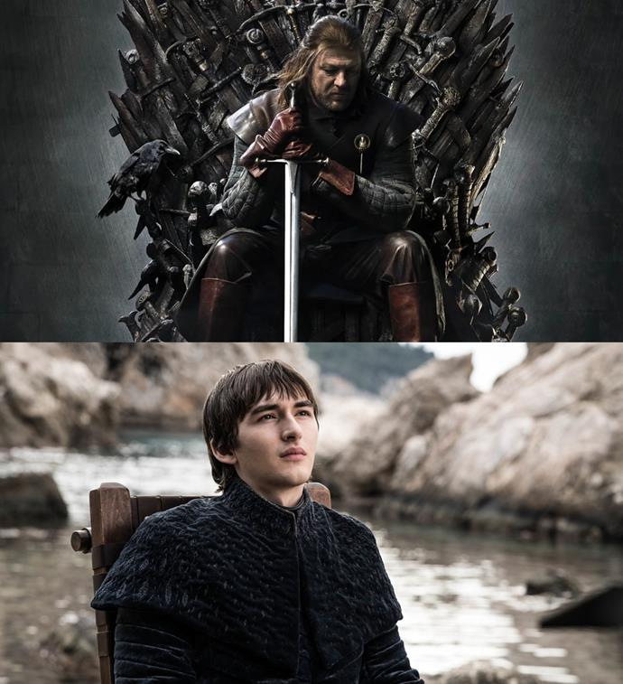 ***A Raven on the Throne***<br><br> It might seem like Bran's taking of the throne came out of nowhere, but did it? In the official poster for season one, a raven can be seen perched on the throne next to Ned Stark. The raven is Bran's symbol as the Three-Eyed Raven.