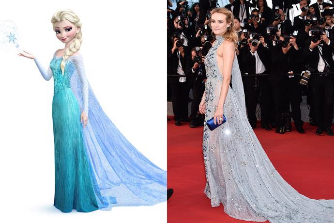 **Elsa and Diane Kruger**