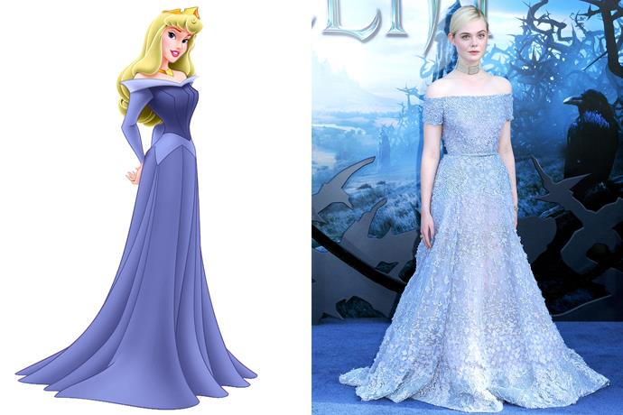 **Sleeping Beauty and Elle Fanning**