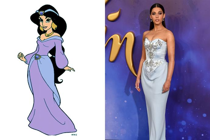 **Princess Jasmine and Naomi Scott**