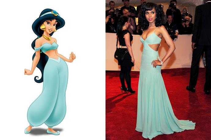 **Princess Jasmine and Kerry Washington**