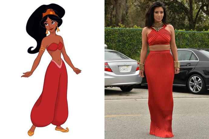 **Princess Jasmine and Kim Kardashian West**