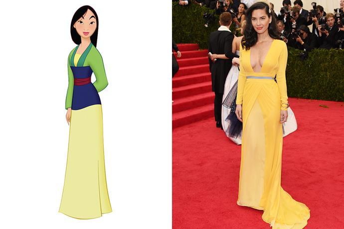 **Mulan and Olivia Munn**