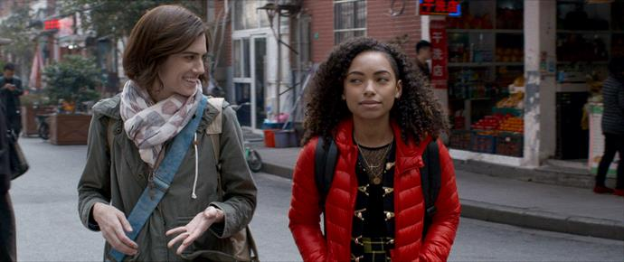 Allison Williams as Charlotte (left) and Logan Browning as Lizzie (right).