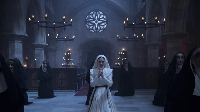***The Nun* (19/06/2019)** <br><br> A priest with a haunted past and a novice on the threshold of her final vows are sent by the Vatican to investigate the death of a young nun in Romania and confront a malevolent force in the form of a demonic nun.