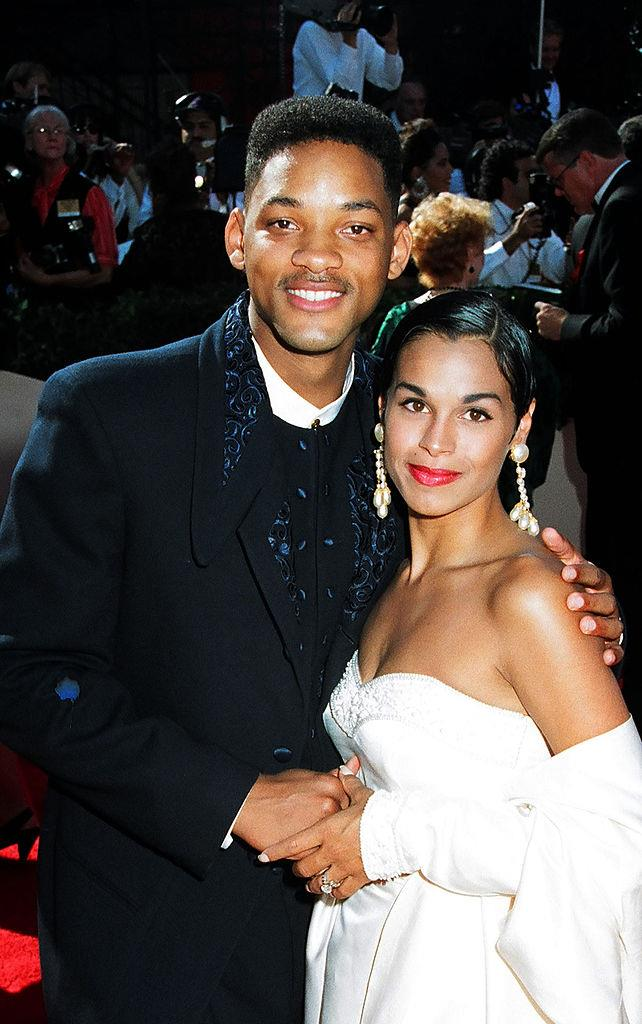 """**Will Smith:** It's hard to imagine a world where Will and Jada Pinkett Smith weren't a package deal, but back in his *Fresh Prince* days, Smith was married to Sheree Zampino Fletcher (pictured). The pair divorced in 1995 after roughly three years of marriage and it was later revealed that Smith began dating Jada Pinkett before his divorce with Fletcher was finalised. How do we know this? Because Jada herself admitted it ... to Fletcher. """"I did not understand marriage. I didn't understand divorce. I will say that I probably should've fell back,"""" Jada admitted to Fletcher on her talk show *Red Table Talk*. On the plus side, Jada and Will and Fletcher all have a great relationship, and Smith and Fletcher are cordial co-parents of their 26-year-old son, Trey."""