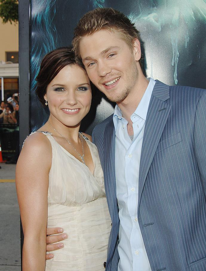 """**Sophia Bush and Chad Michael Murray:** Few could forget that these two dated during their stint on *One Tree Hill*, but it's often overlooked that they actually tied the knot and were married for a grand total of five months in 2005/2006. In a 2018 interview, Bush reflected on the brief marriage and implied that she felt pressure to get married in order to not let people down. """"When you have bosses telling you that you're the only person that gets a person to work on time..."""" Bush said. Murray responded by releasing a statement via his rep, which read: """"""""Chad conducts himself in a completely professional manner and would never marry for any reason but love. Thirteen years since his divorce from Sophia, he has a very happy family life with his wife and children."""" Murray is now married to actress Sarah Roemer, and Bush remains single."""