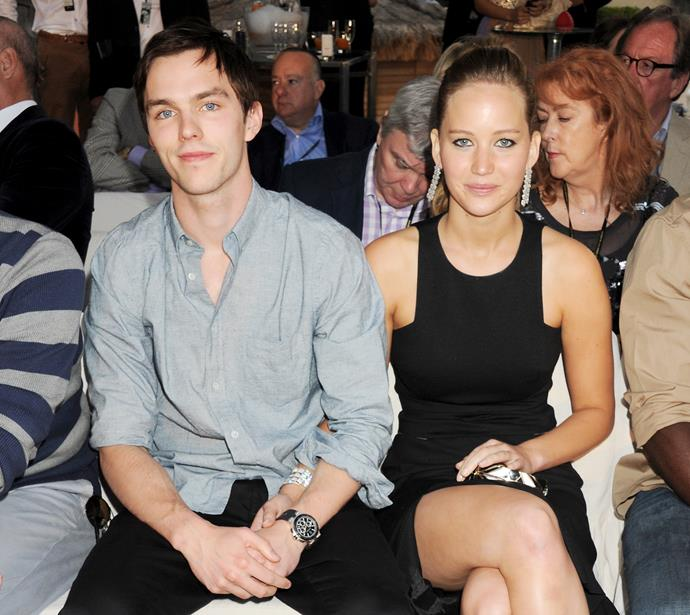 Jennifer Lawrence and Nicholas Hoult in 2012.