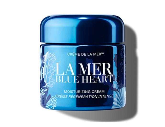 "[La Mer Blue Heart moisturising cream](https://www.cremedelamer.com.au/product/15853/65698/our-latest-luxuries/blue-heart/limited-edition#/sku/102934|target=""_blank""|rel=""nofollow""), $665"