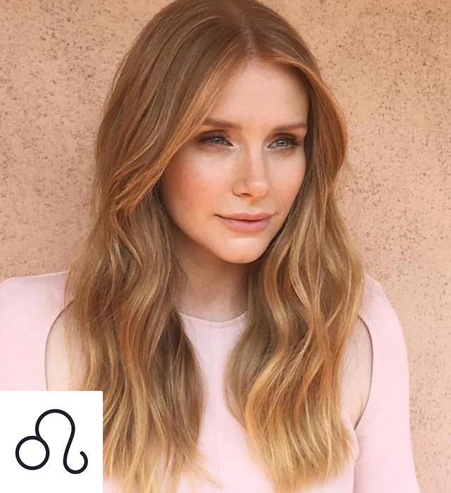 **LEO: BERRY BLONDE** <br><br> Expressive, flamboyant Leos need to take a risk—but not too big a risk. This sunny shade of strawberry is a non-committal way to trial a new look.