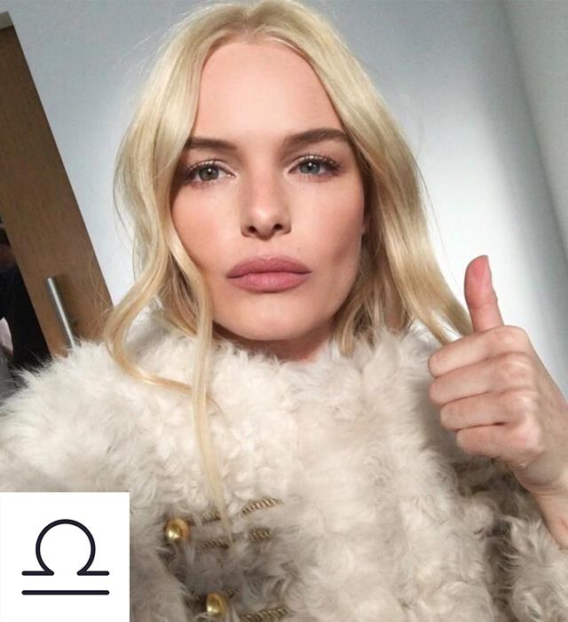 "**LIBRA: [SCANDI BLONDE](https://www.elle.com.au/beauty/scandi-blonde-hair-20123|target=""_blank"")** <br><br> Libras are ruled by beauty and love all things luxury, so they'll have no trouble with the up-keep of this high-maintenace, but high-glamour, shade."
