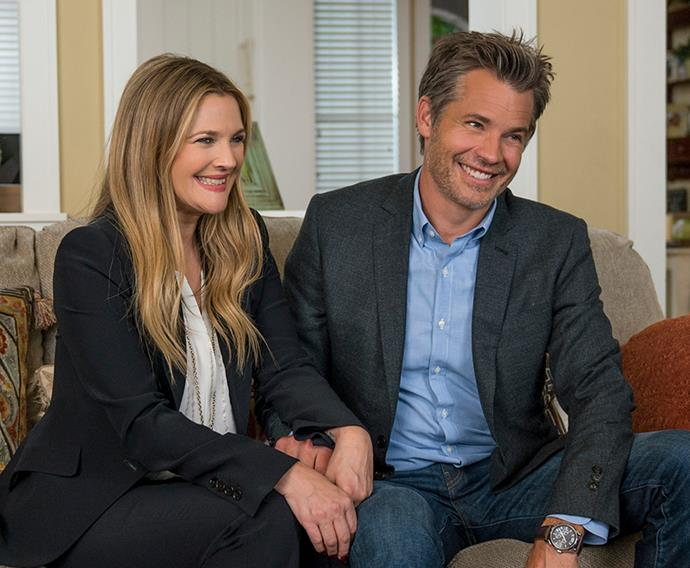 ***Santa Clarita Diet:*** Two married suburban real estate agents (played by Timothy Olyphant and Drew Barrymore) have their pleasant lives turned upside down when Sheila develops a sudden craving to eat human flesh.