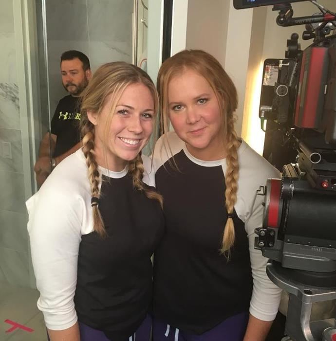 Amy Schumer and Meredith Richardson, her two-time double.