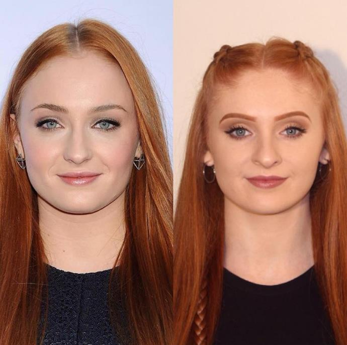 Sophie Turner's double, Laura Butler.