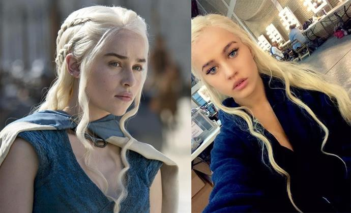 For her turn on *Game of Thrones* as Daenerys Targaryen, Emilia Clarke had model Rosie Mac as a stand-in.
