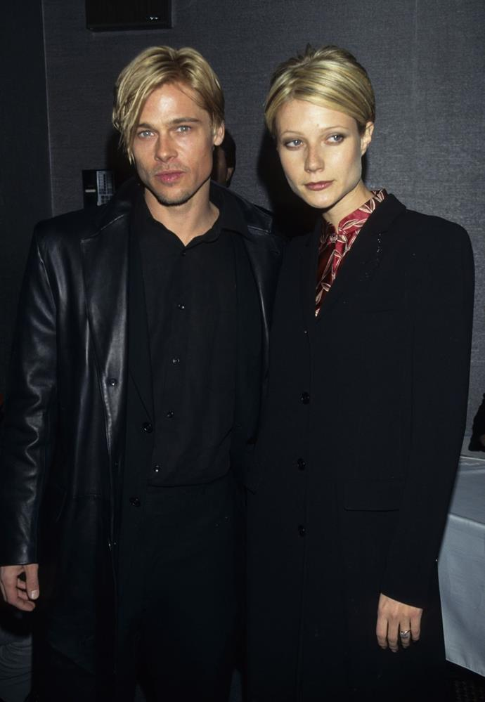 Identical hairdos and black jackets with Gwyneth Paltrow.