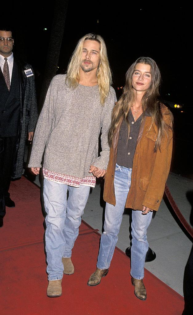Ultra-long tresses, baggy jeans and cowboy boots with Jitka Poheldek in 1994.