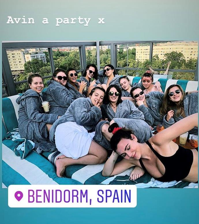 "**Spa times in Spain**<br><br>  Shared on one of Williams' fan accounts, a photo of all of the girls decked in robes at a Spanish spa suggested they were having a very good time indeed.<br><br>   *Image via [@FanAlexandru](https://twitter.com/FanAlexandru/status/1138147702015975424/photo/1|target=""_blank""