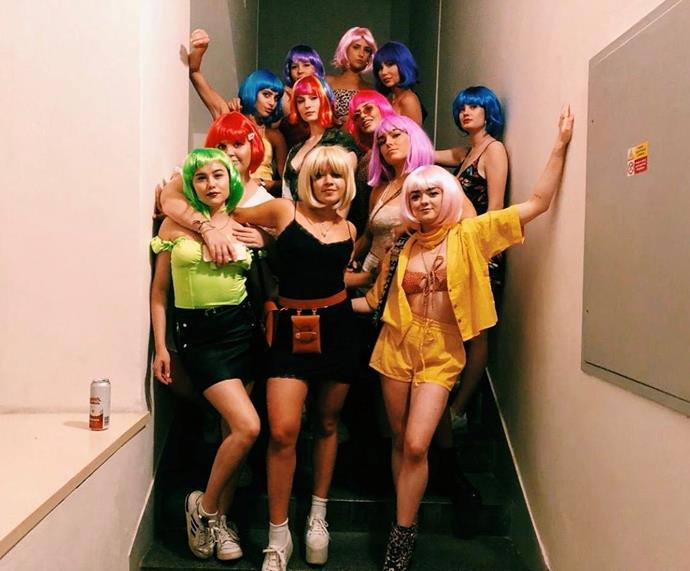 "**Then there was a wig party...**<br><br>  *Image via [@blairnoel](https://www.instagram.com/p/BynrBRiJxLA/|target=""_blank""