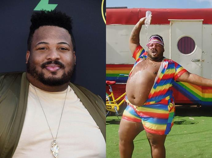 Plus-size model and dancer Dexter Mayfield