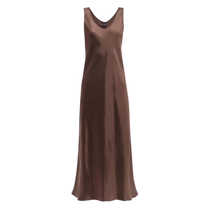 "Dress by Max Mara Leisure, $375 at [MATCHESFASHION.COM](https://www.matchesfashion.com/products/Max-Mara-Leisure-Talete-dress-1279259|target=""_blank""|rel=""nofollow"")."