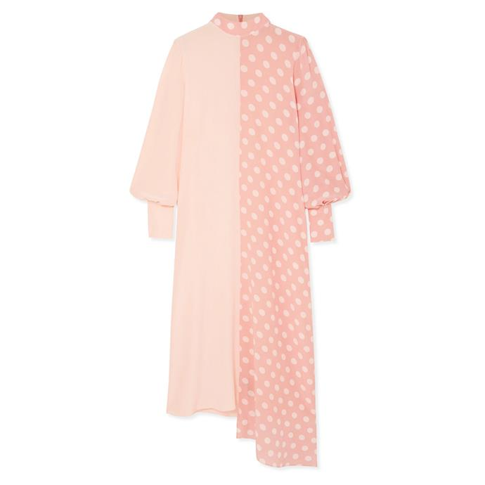 "Dress by Mother of Pearl, $1,722 at [NET-A-PORTER](https://www.net-a-porter.com/au/en/product/1170908/mother_of_pearl/--bbc-earth-millie-asymmetric-polka-dot-organic-silk-dress|target=""_blank""|rel=""nofollow"")."