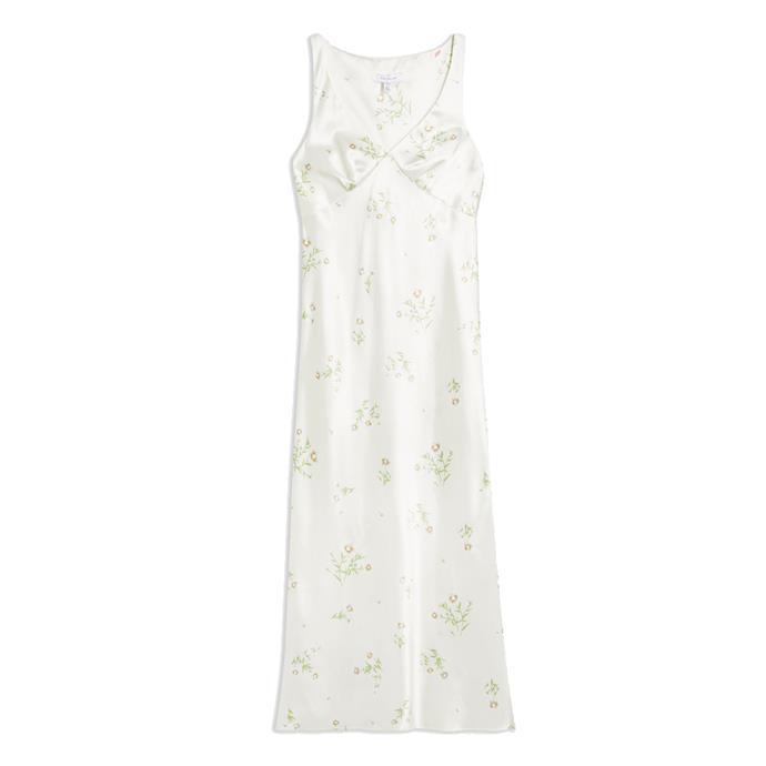 "Slip dress, $71 by [Topshop](https://www.topshop.com/en/tsuk/product/clothing-427/dresses-442/daisy-print-slip-midi-dress-8838341|target=""_blank""|rel=""nofollow"")."