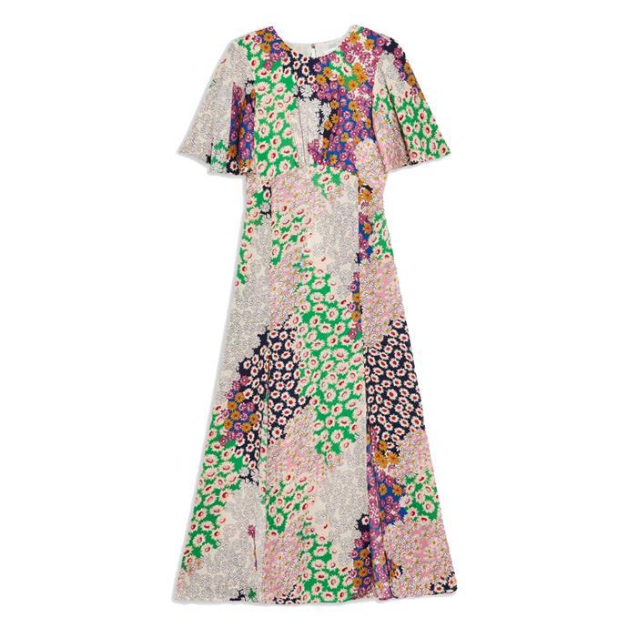 "Dress, $71 by [Topshop](https://www.topshop.com/en/tsuk/product/clothing-427/dresses-442/austin-floral-print-angel-sleeve-midi-dress-8569366|target=""_blank""|rel=""nofollow"")."