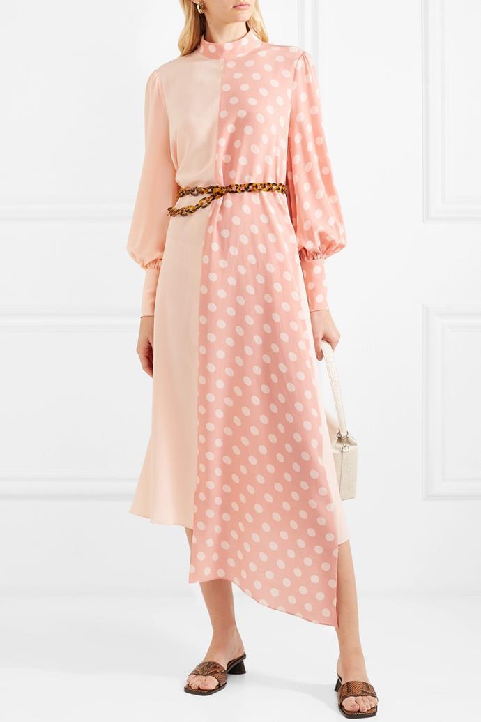 "Dress by Mother of Pearl, $1,722 at [NET-A-PORTER](https://www.net-a-porter.com/au/en/product/1170908/mother_of_pearl/--bbc-earth-millie-asymmetric-polka-dot-organic-silk-dress|target=""_blank""|rel=""nofollow""). <br><br> *Image via NET-A-PORTER.*"