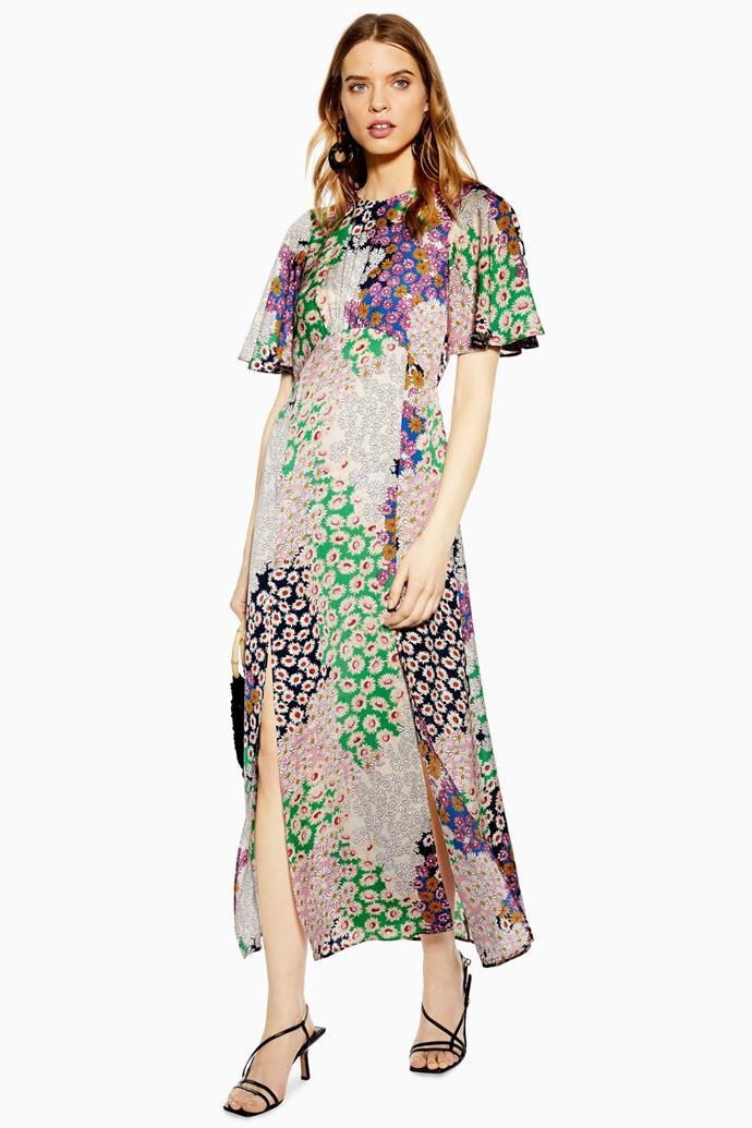 "Dress, $71 by [Topshop](https://www.topshop.com/en/tsuk/product/clothing-427/dresses-442/austin-floral-print-angel-sleeve-midi-dress-8569366|target=""_blank""|rel=""nofollow"").<br><br> *Image via Topshop.*"