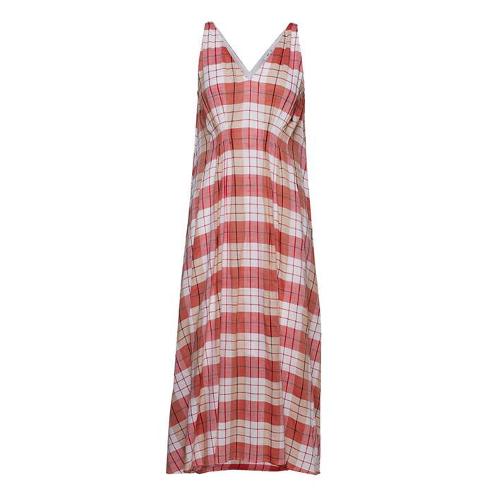 "Dress, $129.95 at [Mango](https://shop.mango.com/au/women/dresses-midi/checked-cotton-dress_43047020.html?c=70&n=1&s=prendas_she.familia;32.dresses32;Midi|target=""_blank""|rel=""nofollow"")."