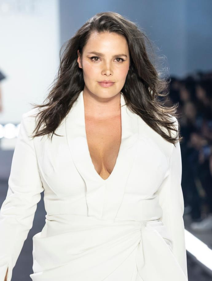 "**Candice Huffine**<br><br>  Part of the famous *Vogue Italia* cover featuring Tara Lynn and Robyn Lawley, Candice Huffine is adamant that plus size inclusivity is here to stay.<br><br>  ""My body is not a fad. It's not a passing trend, and it's not just here for headlines for the moment,"" she told *[Shape](https://www.shape.com/celebrities/interviews/candice-huffine-runners-body-stereotype-marathon-training