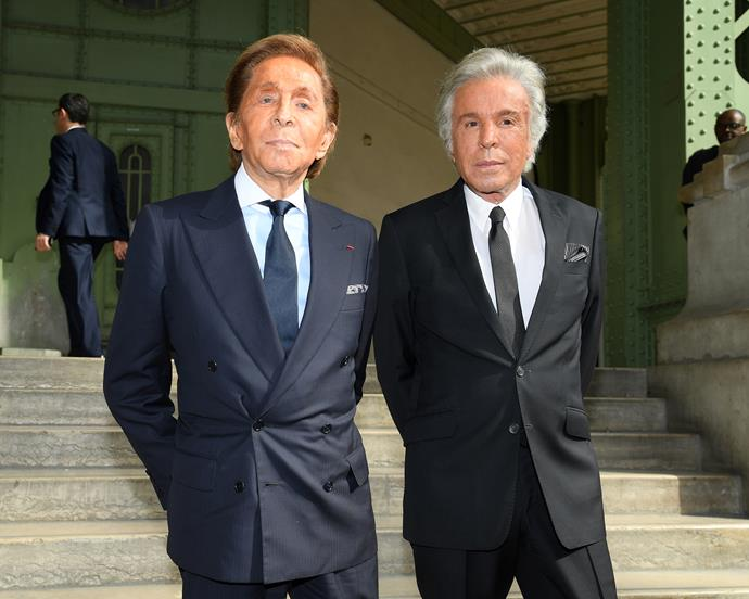 Valentino Garavani and Giancarlo Giammetti.