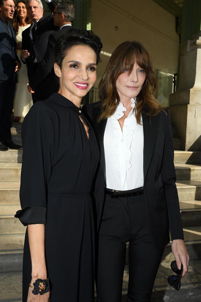 Farida Khelfa and Carla Bruni.