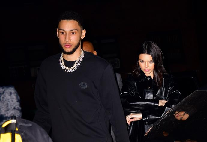 Jenner and Simmons photographed together in February 2019.