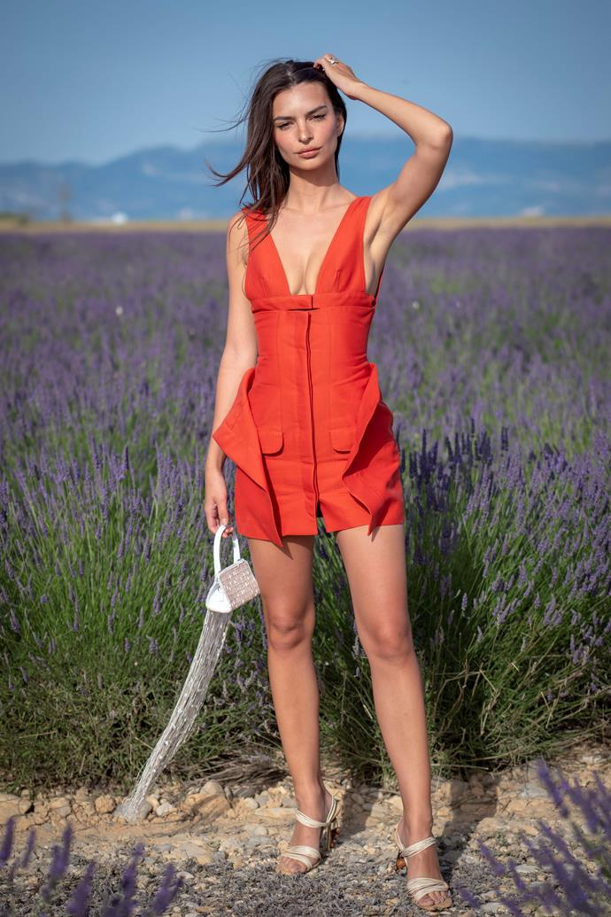 Emily Ratajkowski at Jacquemus spring/summer '20.