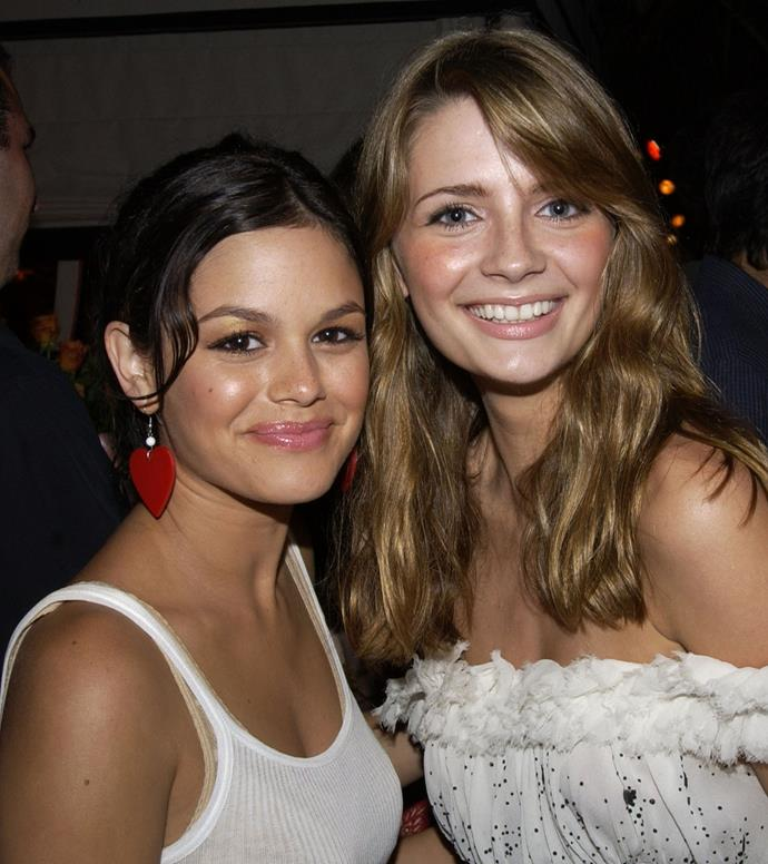 2003, with *The OC* co-star Rachel Bilson.