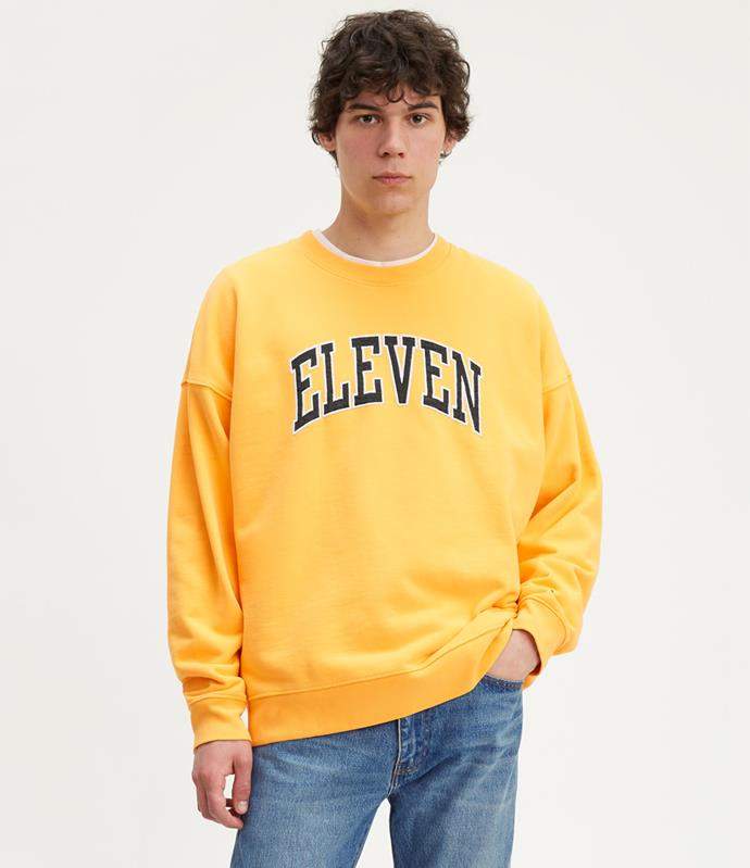 *HOPPERS CREWNECK SUNSET GOLD GRAPHIC, $99.95*